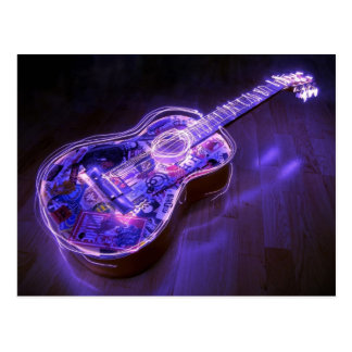 Pintura ligera: guitarra - tarjetas postales