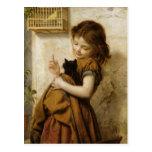 Pintura linda de la postal