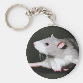 Pintura linda de la rata llavero personalizado
