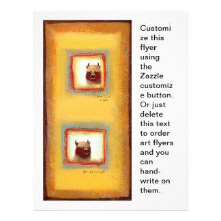 Pintura linda de la relación de la diversión de lo tarjetas publicitarias