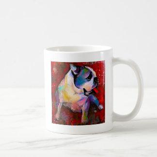 Pintura linda del arte del dogo del inglés america tazas de café