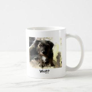 Pintura linda del perro y refrán divertido taza