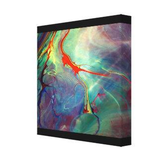 Pintura líquida lienzo envuelto para galerias