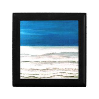 Pintura lluviosa de las olas oceánicas de la resac caja de recuerdo