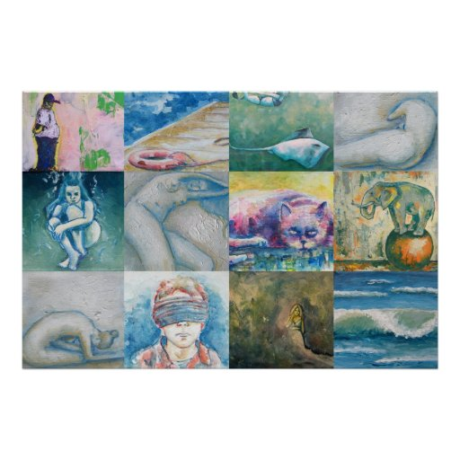 Pintura maqueta póster