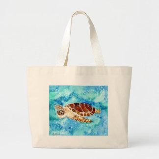 pintura marina de la acuarela del sealife de la to bolsas lienzo