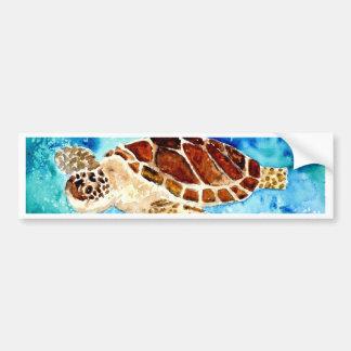 pintura marina de la acuarela del sealife de la to etiqueta de parachoque
