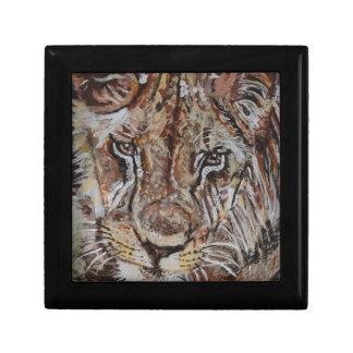 Pintura masculina del león cajas de regalo