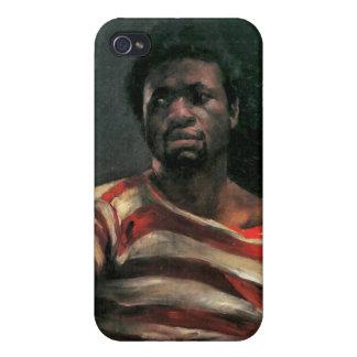 Pintura masculina negra de Othello del retrato de  iPhone 4/4S Fundas