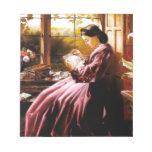 Pintura medieval de señora Reading Letter