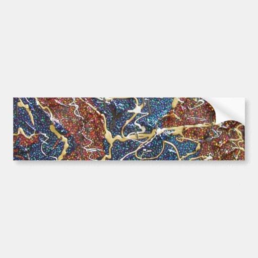 Pintura metálica de los continentes pegatina de parachoque