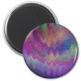 Pintura metálica simulada multicolora imán redondo 5 cm