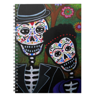 Pintura mexicana de los amantes notebook