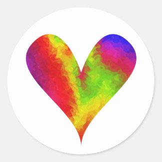 Pintura-mi-Corazón alegre Pegatinas Redondas