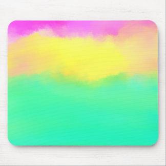 Pintura mínima colorida del arte abstracto mouse pad