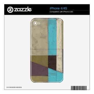 Pintura minimalista de Contemporay con color iPhone 4 Skin
