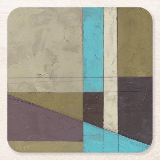 Pintura minimalista de Contemporay con color Posavasos Desechable Cuadrado