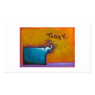 Pintura minúscula expresiva colorida hoy única del plantilla de tarjeta personal