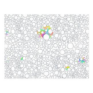 Pintura modelada diversión de los círculos de las tarjeta postal