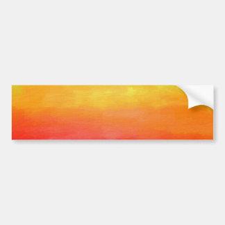 Pintura moderna colorida del arte abstracto pegatina de parachoque