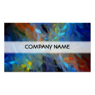 Pintura multi del arte abstracto de los colores plantillas de tarjeta de negocio