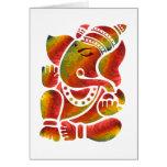 Pintura multicolora de Ganesha Tarjeta De Felicitación