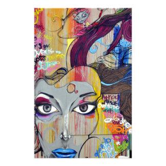 pintura mural del arte de la calle de la pintada papelería personalizada