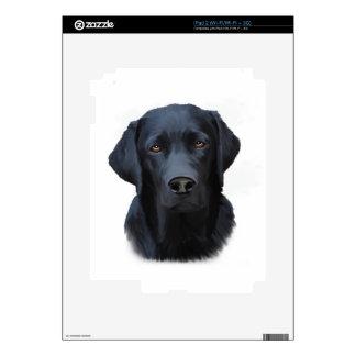 Pintura negra del arte del color de agua del perro calcomanías para iPad 2