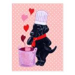Pintura negra del cocinero de Labrador Postal