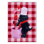 Pintura negra del cocinero de Labrador Tarjeton