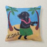 Pintura negra del laboratorio de la hawaiana almohada