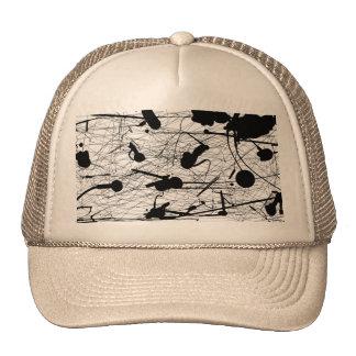 Pintura negra original de la salpicadura gorras