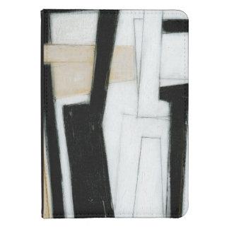 Pintura negra y blanca abstracta funda de kindle touch