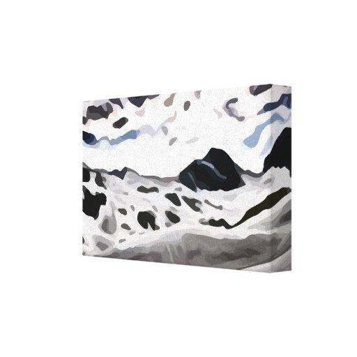 pintura nevosa de la montaña del cielo nublado lona estirada galerías