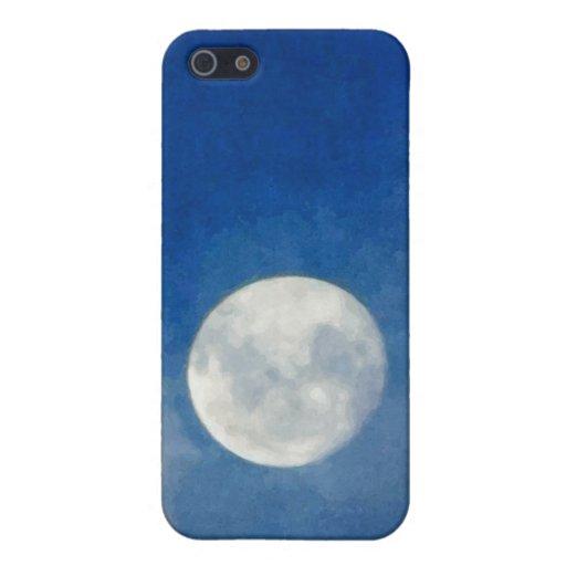 Pintura nublada de la luna iPhone 5 cobertura