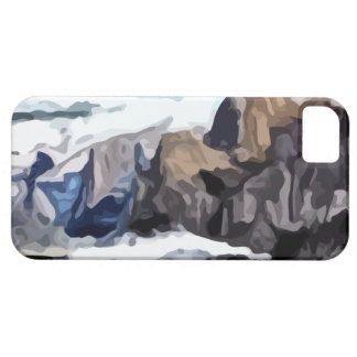 Pintura nublada del valle iPhone 5 funda