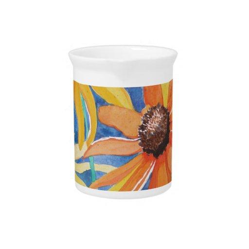 Pintura observada negro de la acuarela de la flor  jarrón
