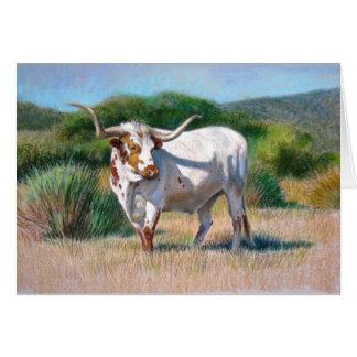 Pintura occidental del arte de Bull del fonolocali Tarjeta De Felicitación