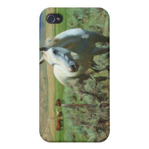 Pintura occidental del caballo iPhone 4 cobertura
