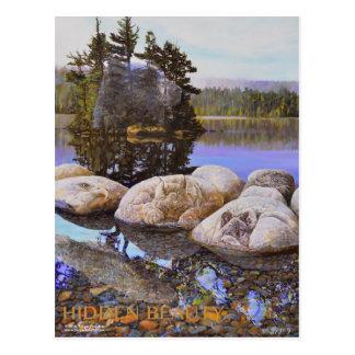 Pintura ocultada de la belleza postales