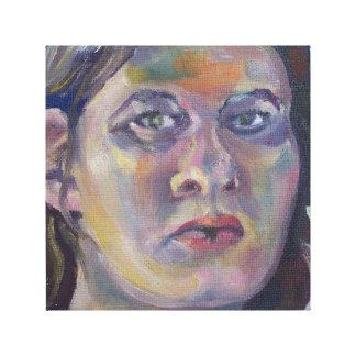 Pintura orgullosa de la mujer impresión en lienzo