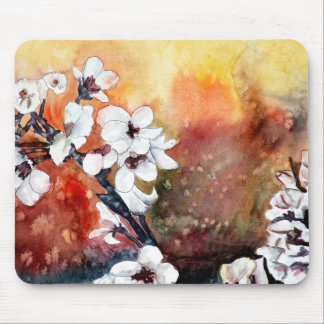 pintura oriental asiática del arte de la flor abst mousepad