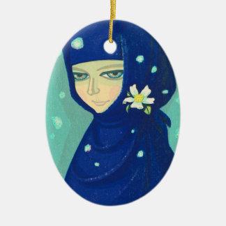 Pintura oriental del chica de la señora de Ikeda S Ornamento De Reyes Magos