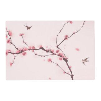 Pintura oriental del estilo, flor de cerezo salvamanteles