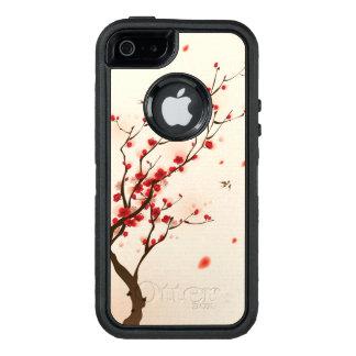 Pintura oriental del estilo, flor del ciruelo en funda otterbox para iPhone 5/5s/SE