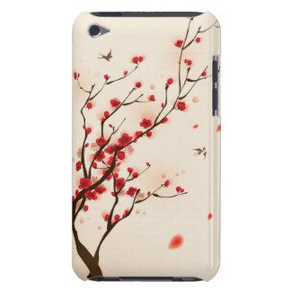Pintura oriental del estilo, flor del ciruelo en l iPod Case-Mate coberturas