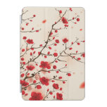 Pintura oriental del estilo, flor del ciruelo en p cubierta de iPad mini