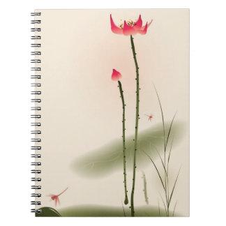 Pintura oriental del estilo, Lotus alto Libros De Apuntes