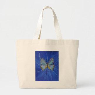 Pintura original de la mariposa transformada bolsa lienzo