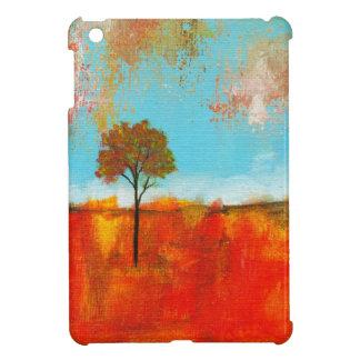 Pintura original del árbol rojo del paisaje del ar iPad mini protector